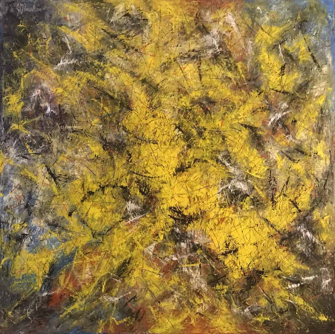 "Online paintings sale: ""Mimose"", oil on canvas by the painter Gianni Perazzoli"